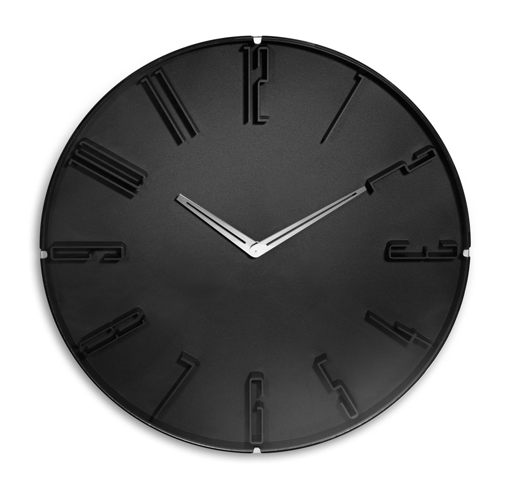 horloge noire grosse horloge murale pas cher. Black Bedroom Furniture Sets. Home Design Ideas