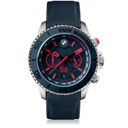 BMW Motorsport Steel Chrono Grande personnalisable Bleu Rouge