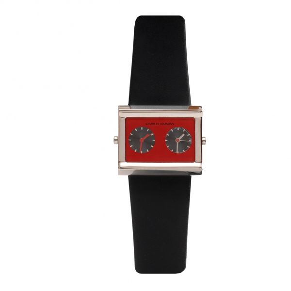 Montre Duo red Noir Rouge