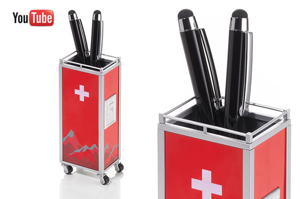 MINI TROLLEY Rouge Argent