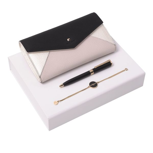 Set Cacharel : Portefeuille + Bracelet + Stylo promotionnel