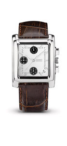 SQUARE Chrono Marron Blanc